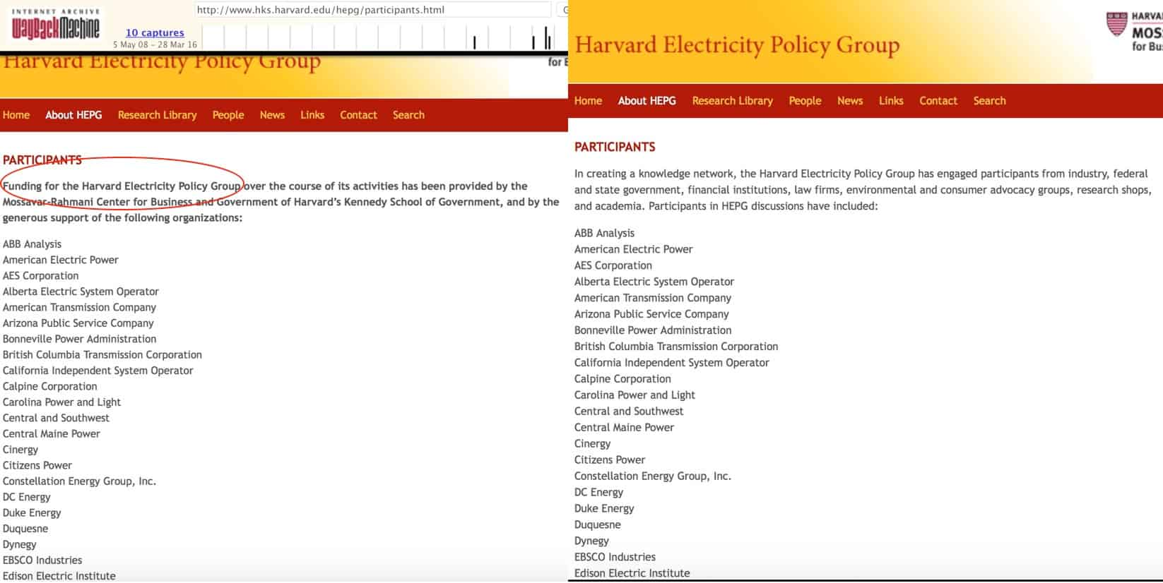 HEPG Deleted Funding From Utilities