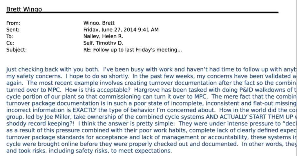 Brett Wingo Email June 27 2014