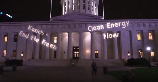 Clean energy supporters in Ohio want Governor John Kasich to end the freeze.
