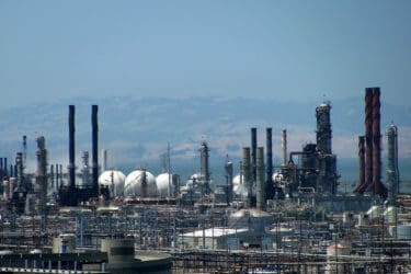 Chevron's oil refinery in Richmond, CA