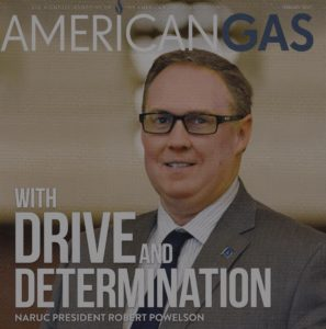Rob Powelson, a Pennsylvania PUC Commissioner and possible FERC nominee, poses for the cover of the American Gas Association magazine
