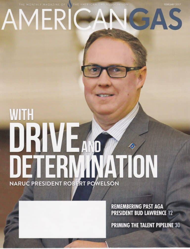 Rob Powelson, Pennsylvania PUC Commissioner and possible FERC nominee, on the cover of the American Gas Association magazine