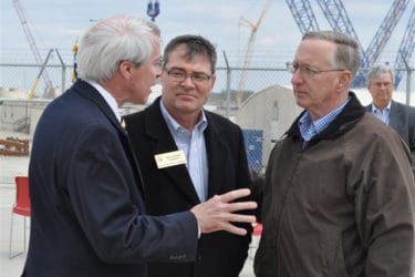 Georgia PSC Commissioner Tim Echols (center) following a tour of the Vogtle plant. Photo c/o NRC flickr page.