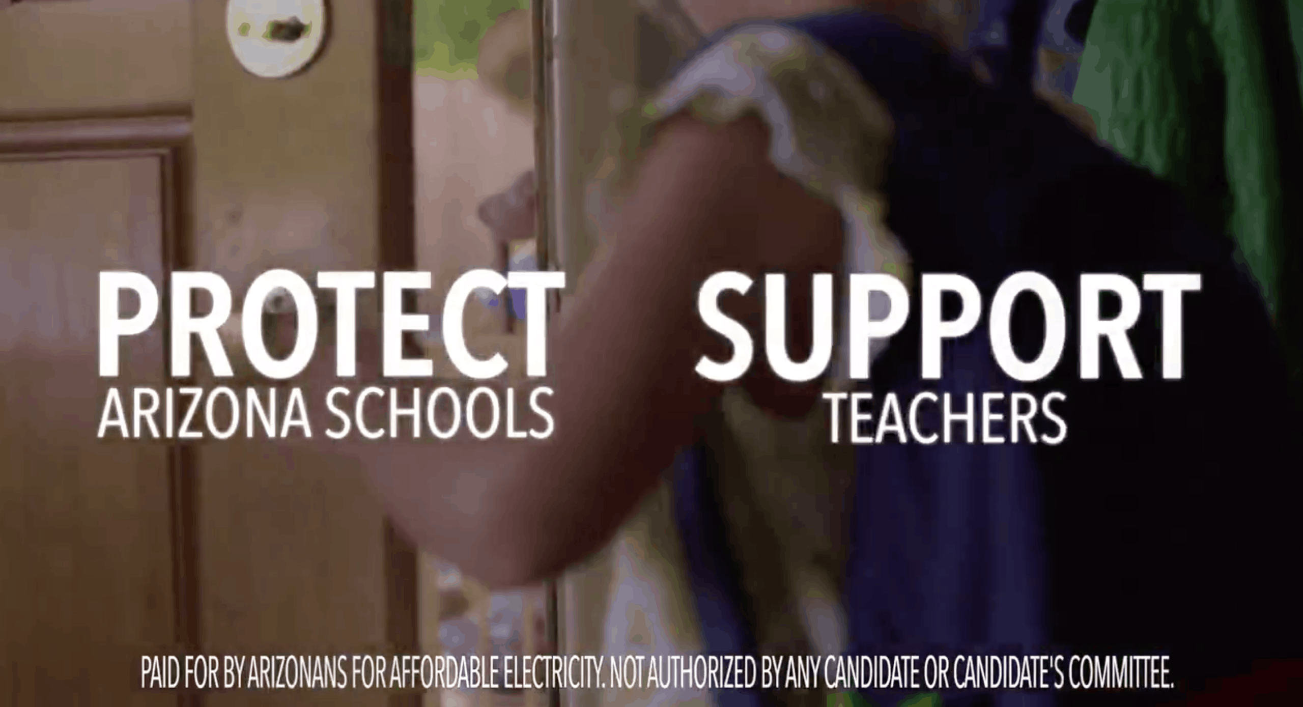 Arizonans for Affordable Electricity's ad against clean energy Prop 127. APS also funds anti-#InvestInEd organizations.