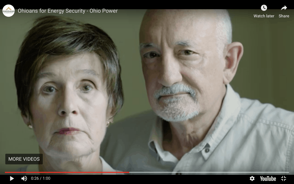 Image from 2019 Ohioans for a Secure Energy Future ad